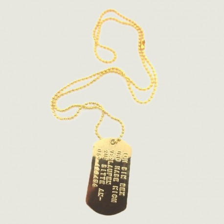 DOGTAG set, Gold plated